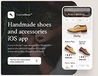 CustomShoes iOS App UX/UI