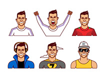 Ronaldo Stickers
