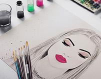 Camila Coelho em desenho