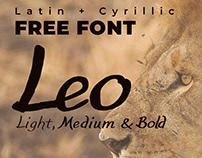 Free Font (Latin+Cyrillic) Leo Hand Written