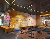 Fitness & Gym Interior Design Branding Mockups