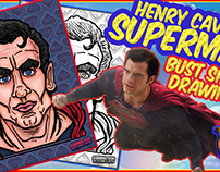 Superman Henry Cavill Caricature Bust Speed Drawing!