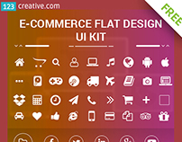 FREE eCommerce flat UI Kit and social media icons