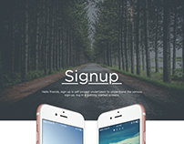 Free PSD - Sign Up Screens