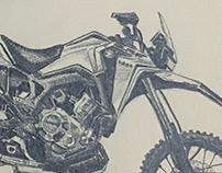 Motorcycle pencil sketches