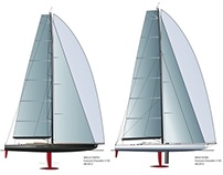 MaxiScow 100' and WallyCento by F Chevalier Y Design
