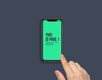 Animated iFone XS Hand Swipe Mockup