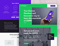 GDPR Essentials / Brand / APP & Landing Page Concept