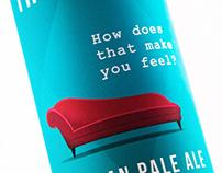 Therabeer. Valerian Pale Ale. Beer packaging