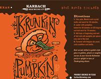 Krunkin Pumpkin - Karbach Seasonal Ale