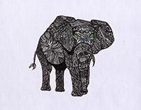 Exquisitely Deluxe Elephant Embroidery Design