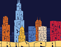 Chicago Typography Skyline