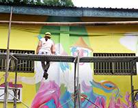 Born in a cabbage\Рожд. в Капусте (streetart in Taiwan)