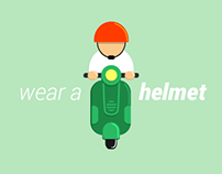 Wear A Helmet - Road Safety