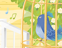 The little bird in the cage