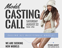 Casting Call Flyer Templates on CM