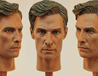 1/6 Rust Cohle Head Sculpt Painting