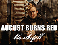 August Burns Red x Blessthefall : Event Posters