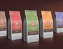 """Ermeidis Coffees"" retail coffee packaging"