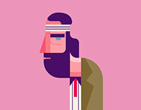 Wes Anderson Characters Illustration