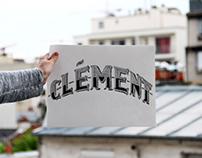 CLÉMENT - Typographie, faire part