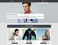 Responsive eshop template design for wlapps.
