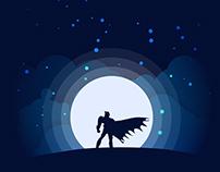 Superheroes sillouette