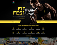 Landing page for the fitness club