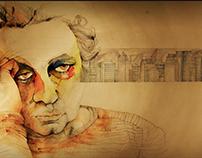 Ilustración concurso - Santiago en 100 palabras. Chile