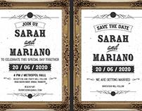 Frame Wedding Invitation Suit Template 3