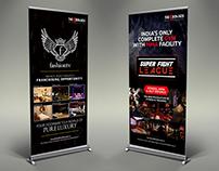 Standee Designs for Fashion Tv, SFL Gym, Cafe Basilico