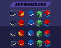 Isometric Superhero Game Sprite