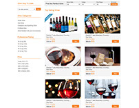 Wine Ecommerce Responsive Web and Mobile Page
