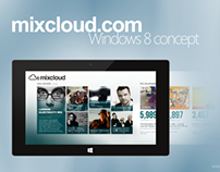 Mixcloud.com Application Concept for Windows 8