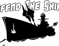 Defend the Ship! - Logo / T-Shirt Design