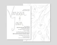 vanessa & jason / wedding invitations