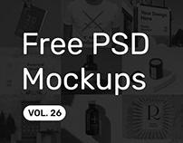 Free PSD Mockups vol. 26