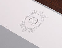 HOT FOIL WEDDING INVITATION - COTTON PAPER