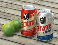 Tecate 3d product shot