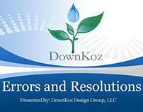 Errors And Resolutions