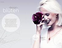 """Design-Blüten"" / Schmuckmagazin 02/2016"