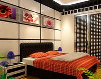Interior design chambre à coucher