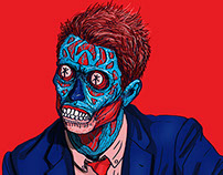 Chris Hardwick-Nerdist - THEY LIVE - Consume art series