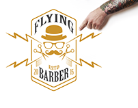 Flying Barber Standee