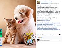 Postagens para o cliente Armazém Confiança Pet.