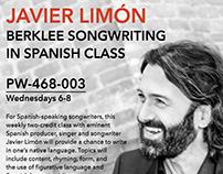 Javier Limon class poster