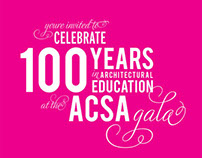 ACSA Centennial Gala Invitation