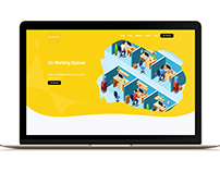 Co-Working landing page Ui