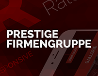 Modern Webdesign - Prestige Firmengruppe