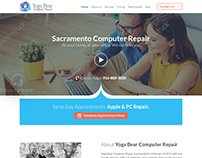 computer repair website template design by Nexstair
